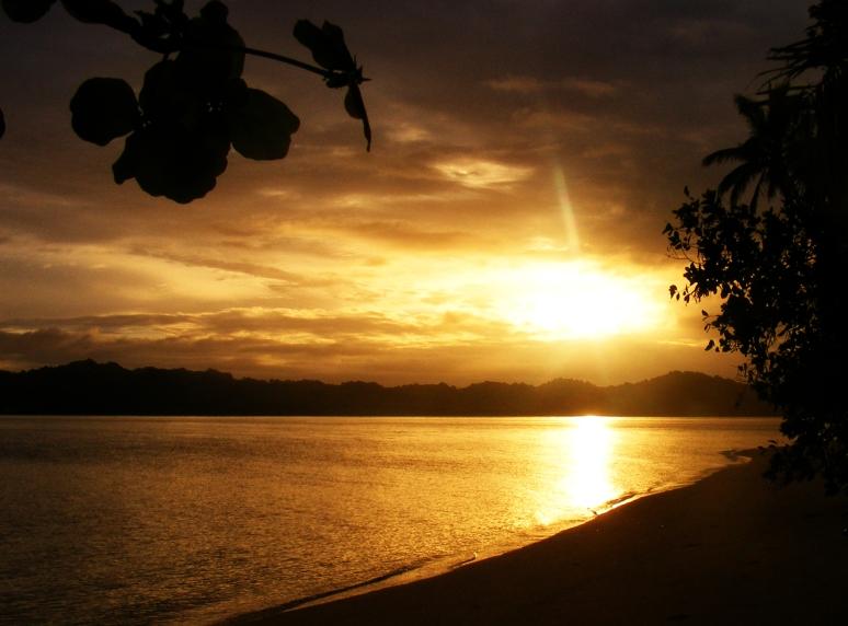 Sunset on Fiji