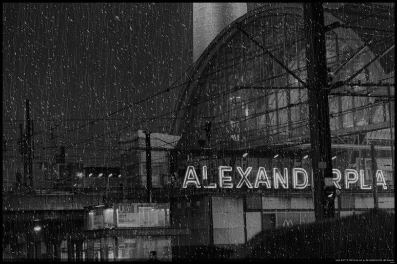 A rainy night in Alexanderplatz (Berlin)