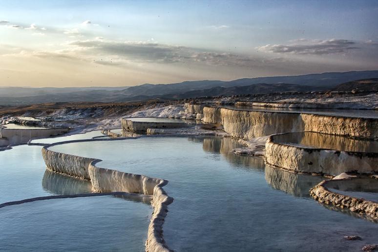 Pamukkale's terraces of travertine (Turkey)