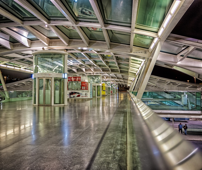 A passage of the Calatrava station (Lisbon)