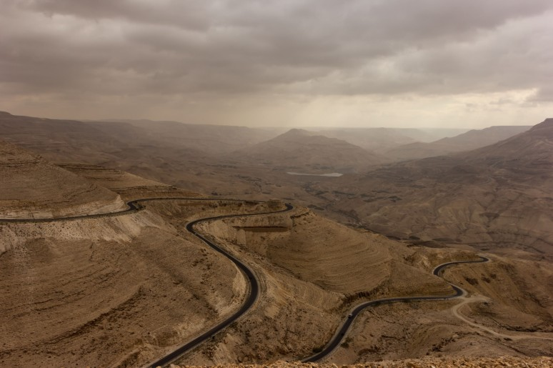 The black road (Wadi Mujib, Jordan)