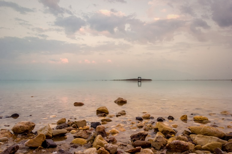 On the shores of the Dead Sea