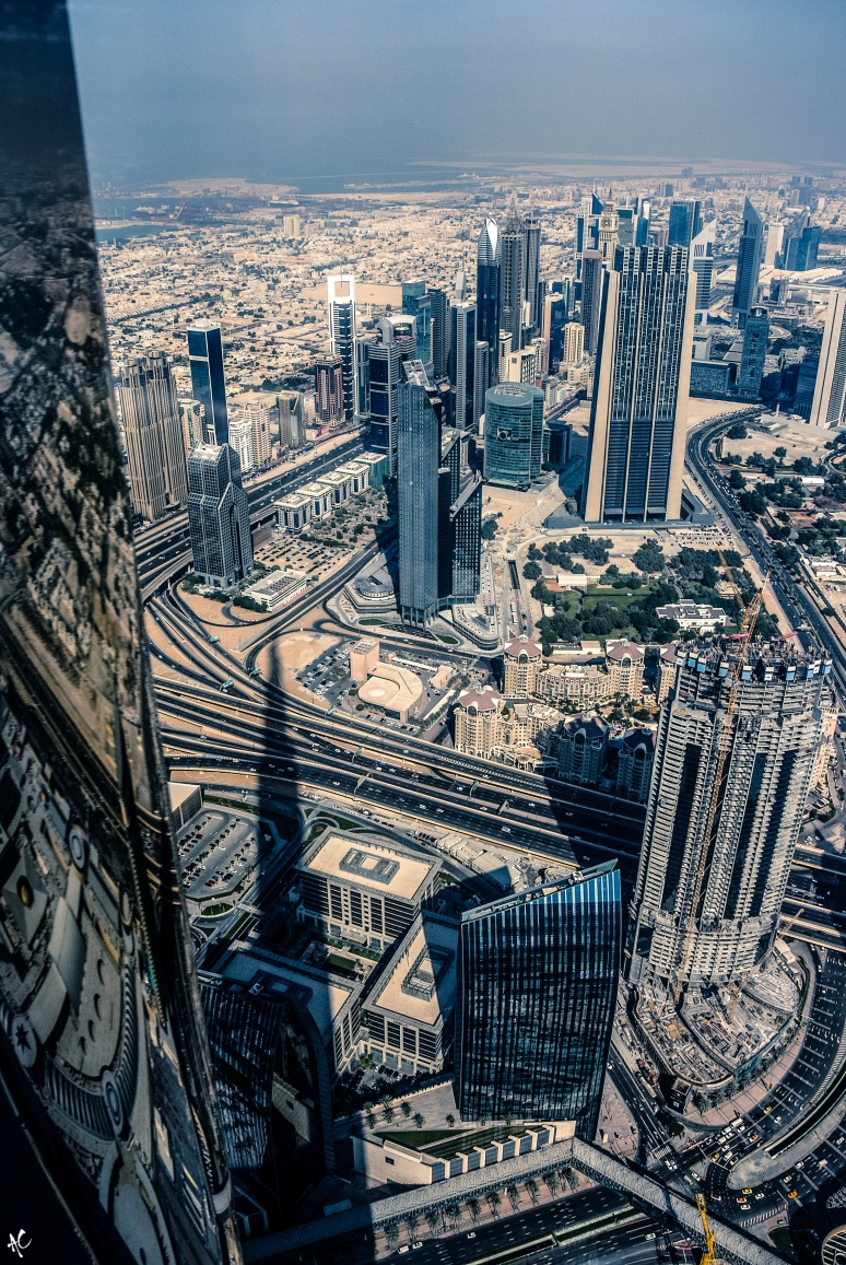 At the top of the Burj Khalifa, Dubai